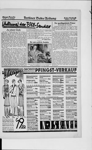 Berliner Volkszeitung vom 05.05.1929