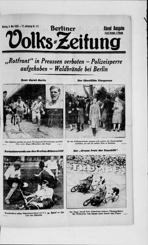 Berliner Volkszeitung vom 06.05.1929