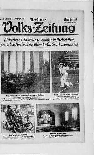 Berliner Volkszeitung vom 08.05.1929