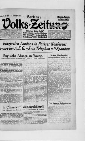 Berliner Volkszeitung vom 10.05.1929