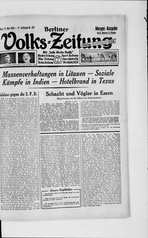 Berliner Volkszeitung vom 12.05.1929