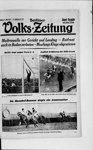 Berliner Volkszeitung vom 13.05.1929