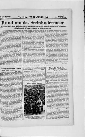 Berliner Volkszeitung vom 15.05.1929