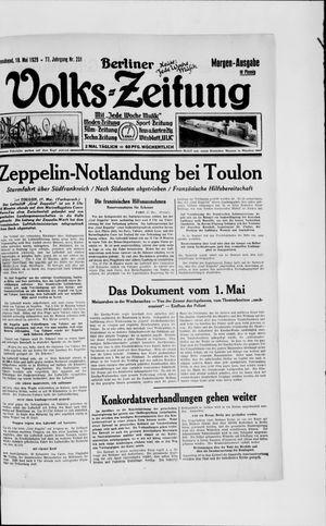 Berliner Volkszeitung vom 18.05.1929
