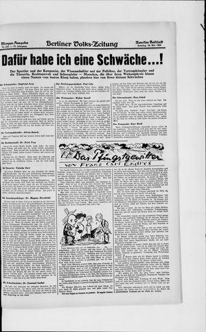 Berliner Volkszeitung vom 19.05.1929