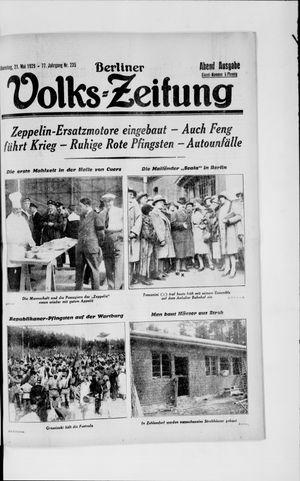Berliner Volkszeitung vom 21.05.1929