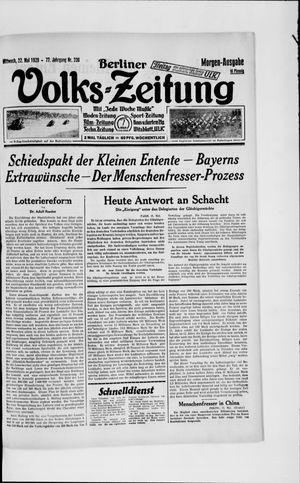 Berliner Volkszeitung vom 22.05.1929