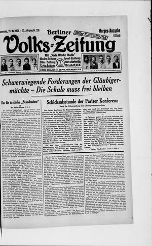 Berliner Volkszeitung vom 23.05.1929