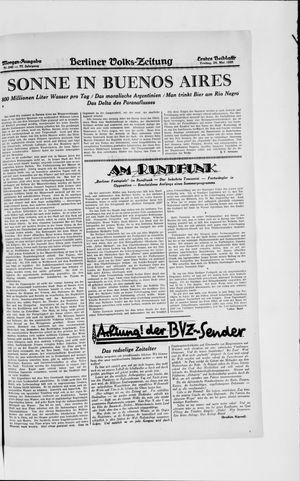 Berliner Volkszeitung vom 24.05.1929