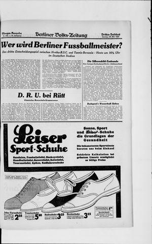 Berliner Volkszeitung vom 26.05.1929