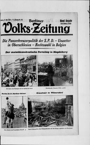 Berliner Volkszeitung vom 27.05.1929