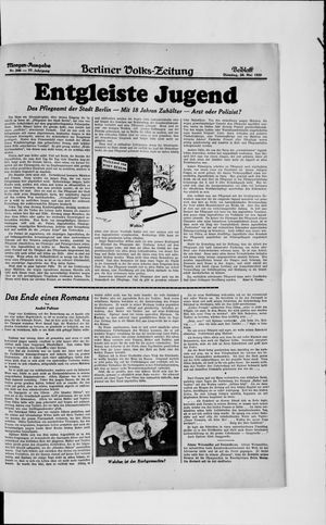Berliner Volkszeitung vom 28.05.1929