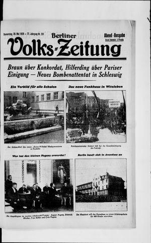 Berliner Volkszeitung vom 30.05.1929