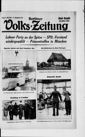 Berliner Volkszeitung vom 31.05.1929