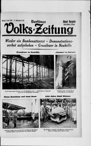 Berliner Volkszeitung vom 03.06.1929