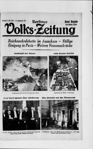 Berliner Volkszeitung vom 05.06.1929
