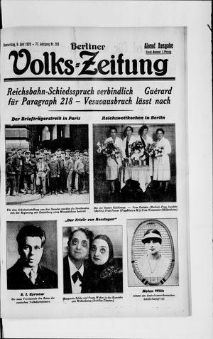 Berliner Volkszeitung vom 06.06.1929