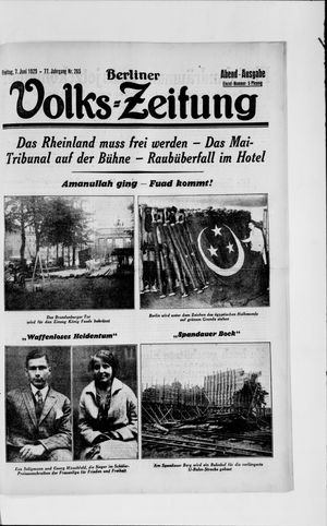 Berliner Volkszeitung vom 07.06.1929