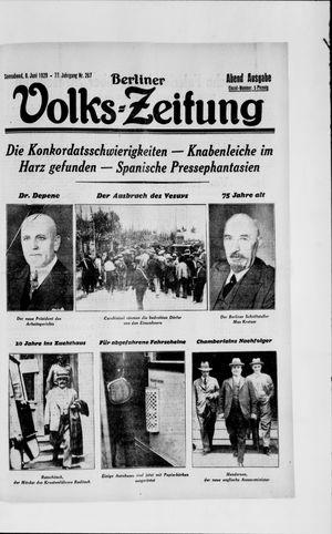 Berliner Volkszeitung vom 08.06.1929