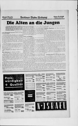 Berliner Volkszeitung vom 09.06.1929