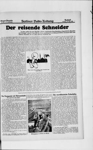 Berliner Volkszeitung vom 14.06.1929