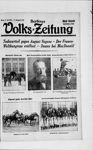 Berliner Volkszeitung vom 17.06.1929