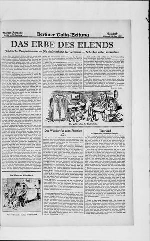 Berliner Volkszeitung vom 19.06.1929