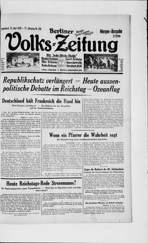 Berliner Volkszeitung vom 22.06.1929