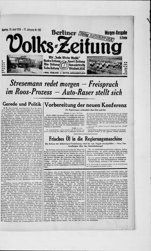 Berliner Volkszeitung vom 23.06.1929