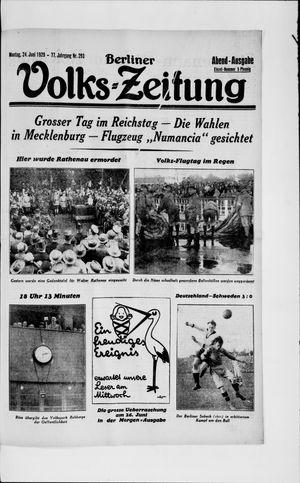 Berliner Volkszeitung vom 24.06.1929