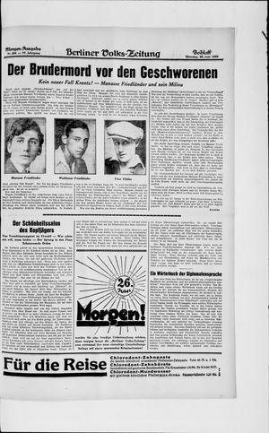 Berliner Volkszeitung vom 25.06.1929