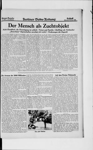 Berliner Volkszeitung vom 26.06.1929