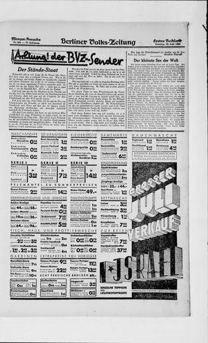 Berliner Volkszeitung vom 30.06.1929