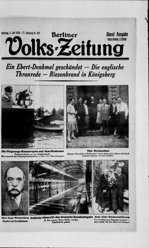 Berliner Volkszeitung vom 02.07.1929