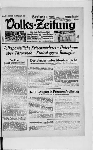 Berliner Volkszeitung vom 03.07.1929