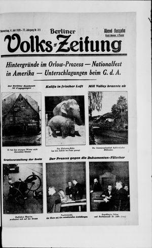 Berliner Volkszeitung vom 04.07.1929