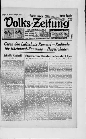 Berliner Volkszeitung vom 05.07.1929