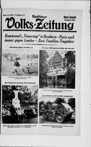 Berliner Volkszeitung vom 08.07.1929