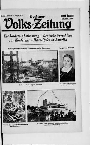 Berliner Volkszeitung vom 09.07.1929