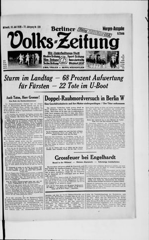 Berliner Volkszeitung vom 10.07.1929