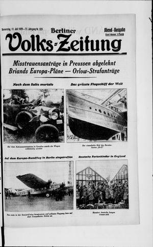 Berliner Volkszeitung vom 11.07.1929