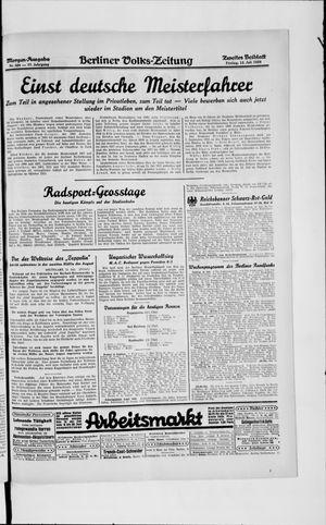 Berliner Volkszeitung vom 12.07.1929