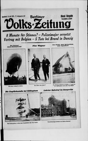 Berliner Volkszeitung vom 13.07.1929
