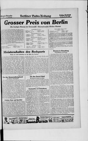 Berliner Volkszeitung vom 14.07.1929