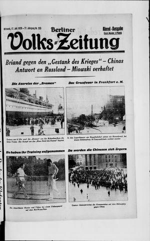 Berliner Volkszeitung vom 17.07.1929
