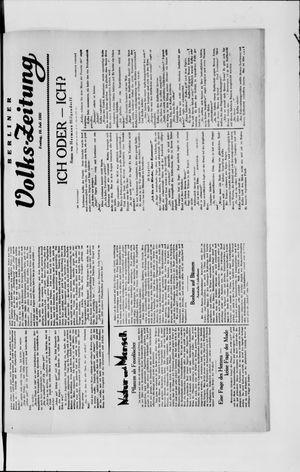 Berliner Volkszeitung vom 19.07.1929