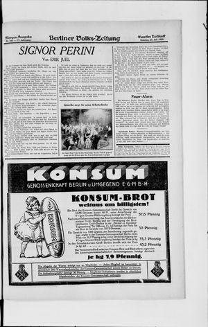 Berliner Volkszeitung vom 21.07.1929