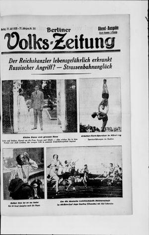 Berliner Volkszeitung vom 22.07.1929
