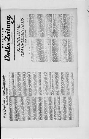 Berliner Volkszeitung vom 23.07.1929