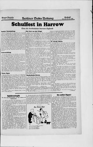 Berliner Volkszeitung vom 24.07.1929
